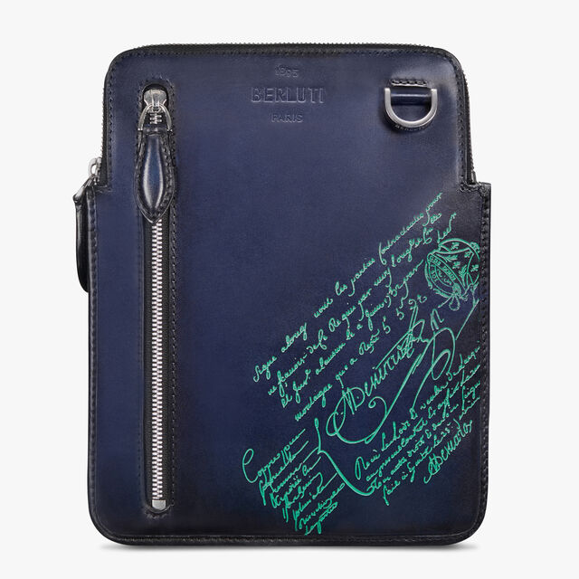 Daylight Nylon and Leather Scritto Messenger Bag, STORM BLUE, hi-res
