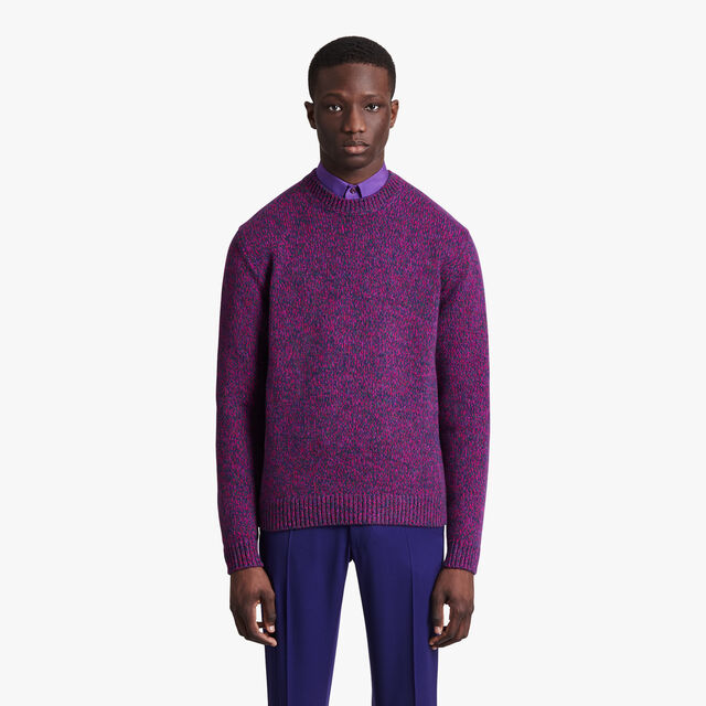マルチカラー セーター, VIBRANT FUSHIA, hi-res