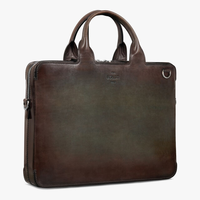 Profil 3 Mini Leather Briefcase, ICE BROWN, hi-res