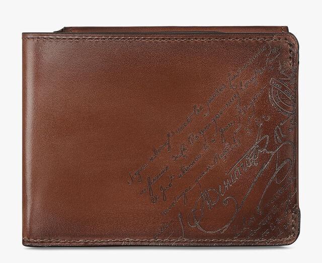 Essentiel Coin Scritto Leather Wallet, MOGANO, hi-res