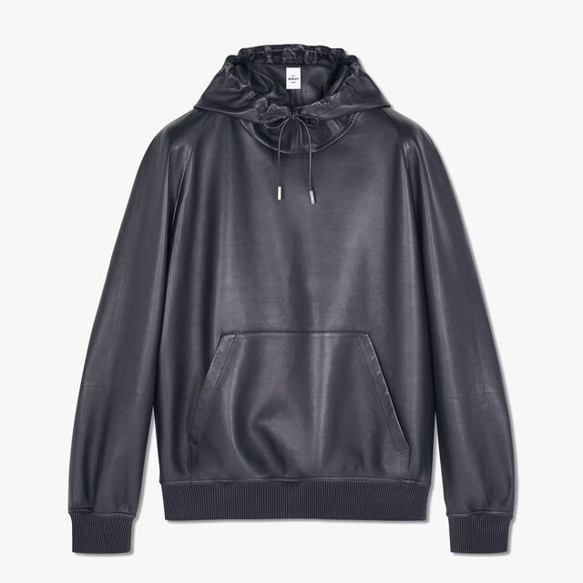 Lamb Leather Hoodie, CAOS NIGHT, hi-res