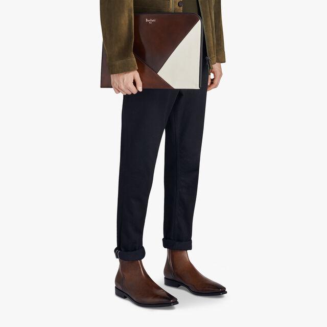 Nino Extra Large Patchwork Venezia Calf Leather Document Holder, BRUN+IVORY, hi-res