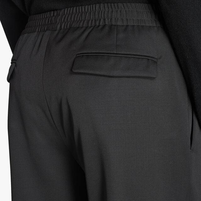 Adjustable Wool Joggers, NOIR, hi-res