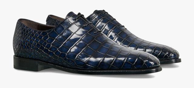 Alessandro Démesure Alligator Leather Oxford, NERO BLU, hi-res