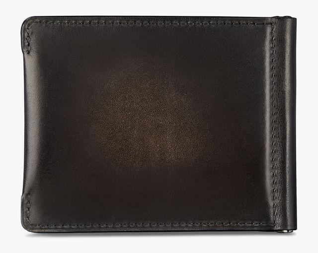 Figure Scritto Leather Wallet, NERO GRIGIO, hi-res