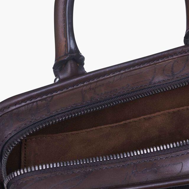 Un Jour Gulliver Scritto Swipe Leather Messenger Bag, TOBACCO BIS, hi-res