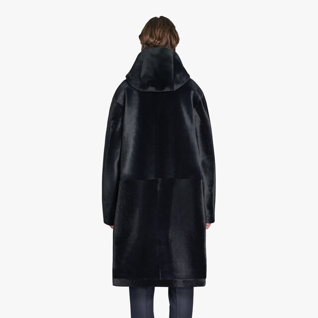 Long Bonded Kangaroo Leather Parka, CAOS NIGHT, hi-res