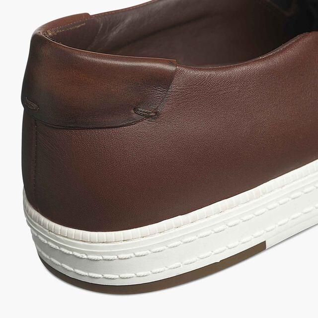 Playtime Palermo Scritto Calf Leather Sneaker, MOGANO, hi-res