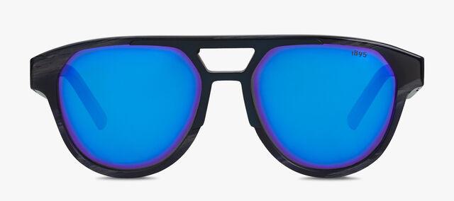 Sparkle Aviator Shape Acetate Sunglasses, GREY HORN, hi-res