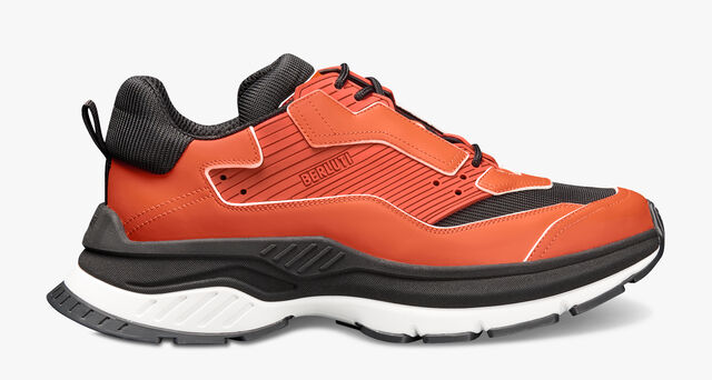 Gravity Leather Sneaker, ORANGE, hi-res