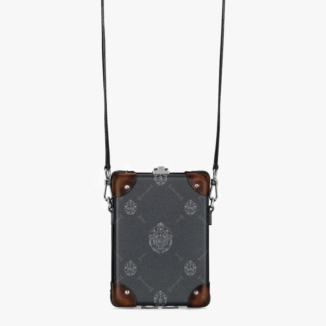 Globe-Trotter Messenger Mini Canvas And Leather Messenger Bag , BLACK+TDM INTENSO, hi-res