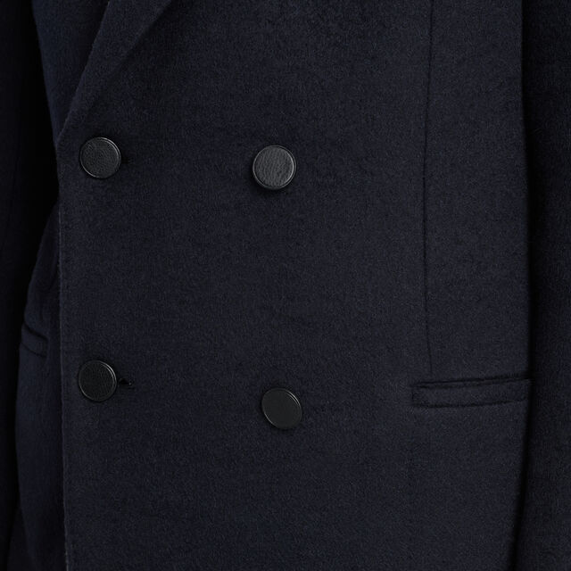Camel Hair Formal Coat With Leather Buttons, ECLIPSE, hi-res