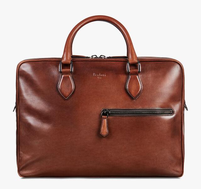 F088 Large Leather Briefcase, MOGANO, hi-res