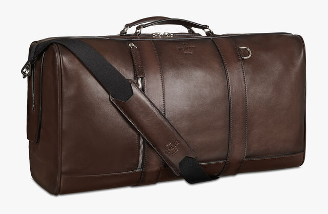 Eclipse Leather Travel Bag, BRUN, hi-res