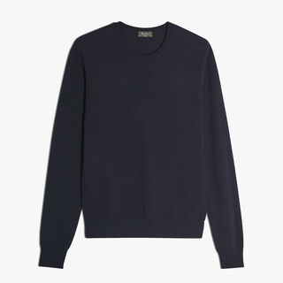 Cashmere Crewneck Sweater, BLUE NAVY, hi-res