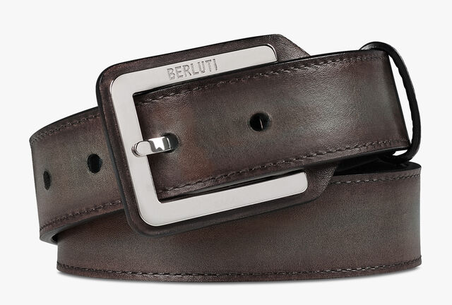 Incrustee Leather Belt - 30 mm, ICE BROWN, hi-res