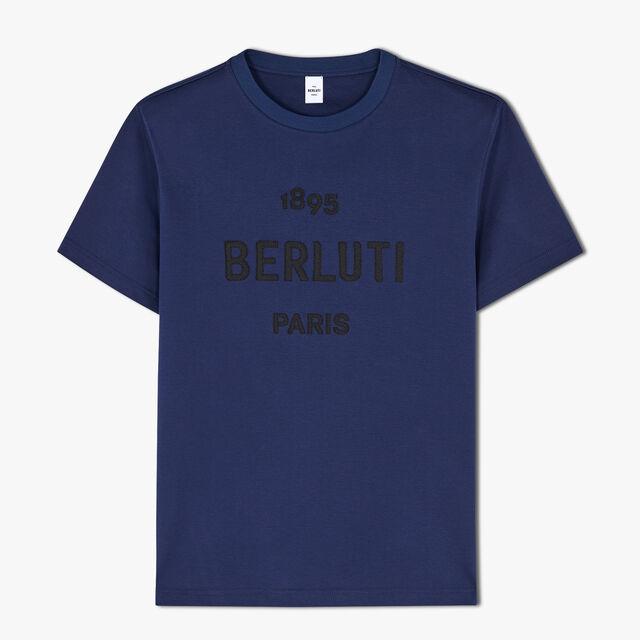 刺繍ロゴ付きコットンTシャツ, CAOS NIGHT, hi-res