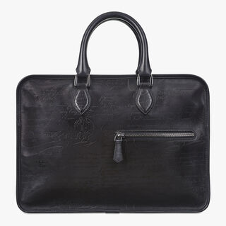 Un Jour Leather Briefcase, NERO GRIGIO, hi-res