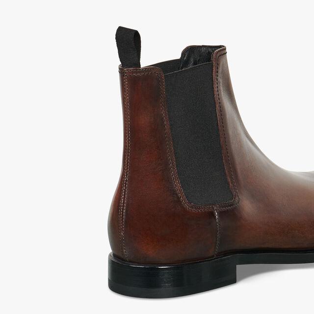 Caractère Éclair Calf Leather Boot, BRUN, hi-res