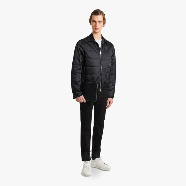 Nylon Scritto Quilted Jacket, NOIR, hi-res