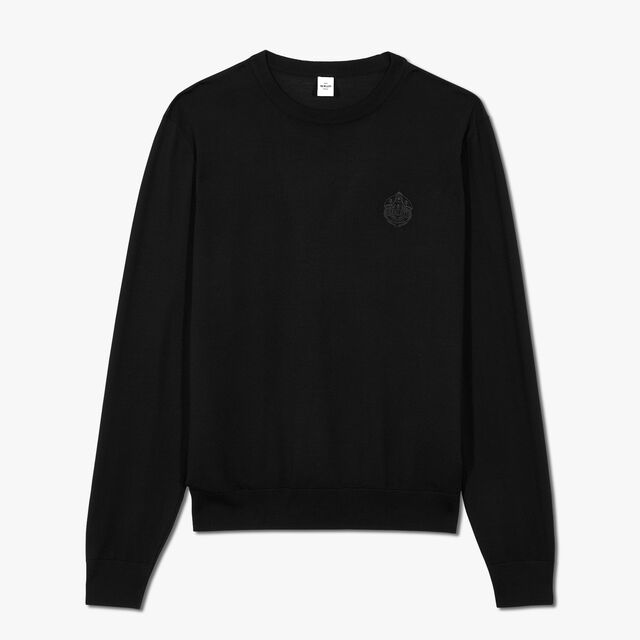Embroidered Crest Sweater