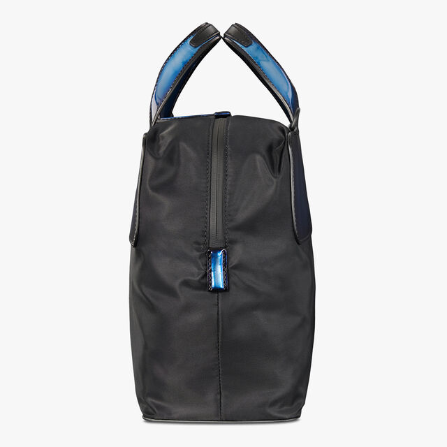 Cube Small Nylon Travel Bag With Leather Details