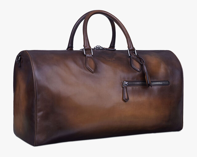 Jour Off Large Leather Travel Bag, TOBACCO BIS, hi-res