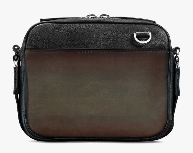 Contraste Mini Leather Messenger Bag, ICE BROWN, hi-res