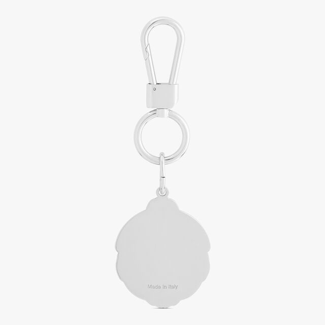 Metal Crest Key Ring , BLACK, hi-res