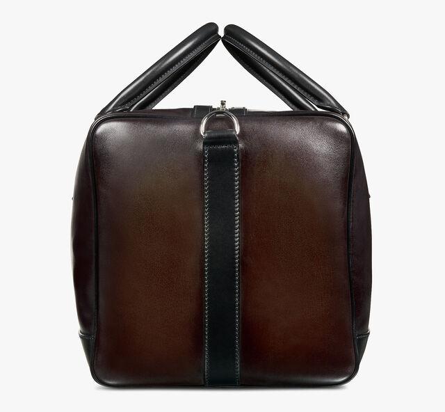 Aventure Medium Leather Travel Bag, ICE BLACK, hi-res