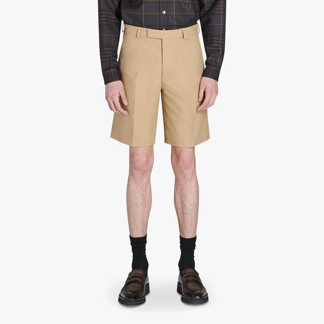 Slim-Fit Cotton Chino Bermuda Shorts, NEUTRON, hi-res