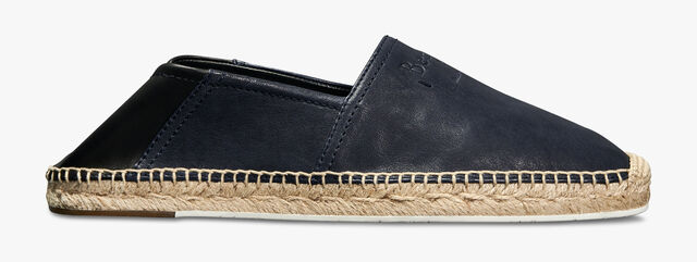 Iban Biarritz Agnello Leather Espadrille, NAVY, hi-res