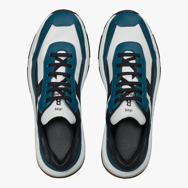 Pulse Leather and Nylon Sneaker, ALPINE GREEN, hi-res