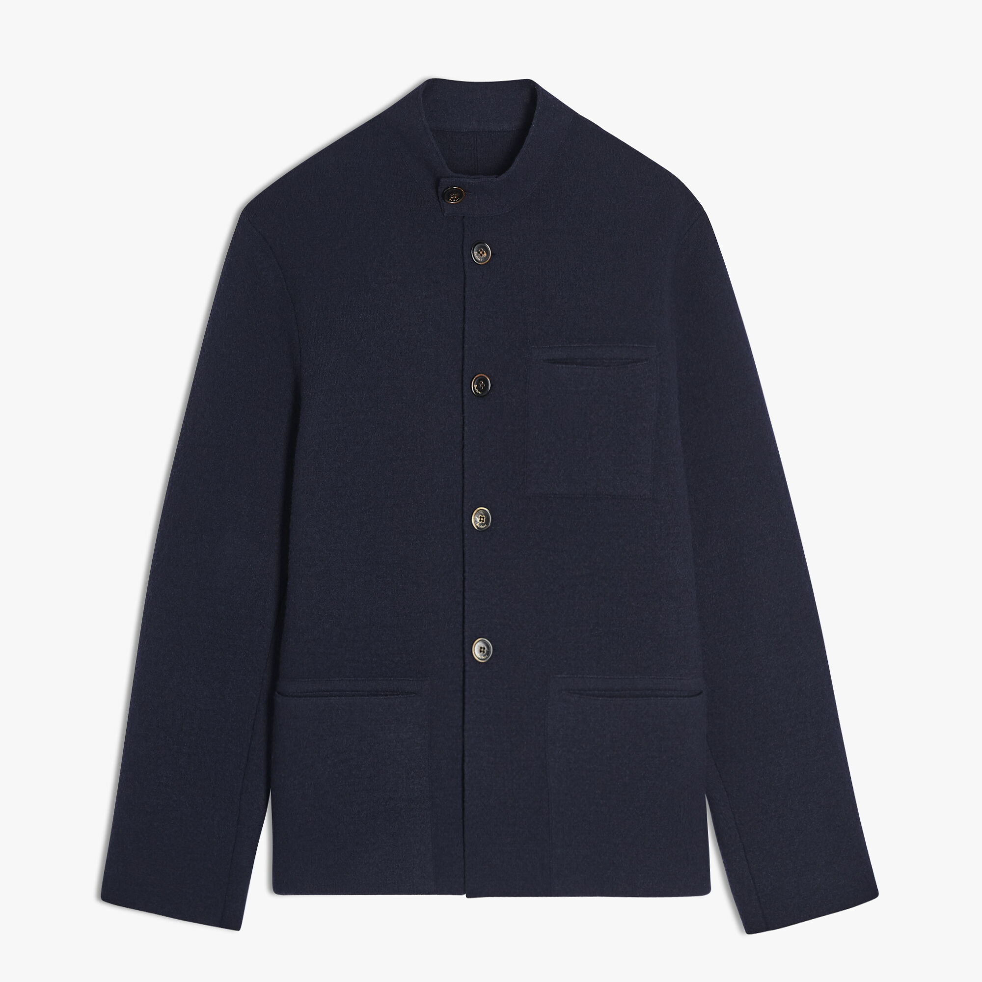 Cashmere And Wool Forestiere Jacket, BLUE NAVY, hi-res