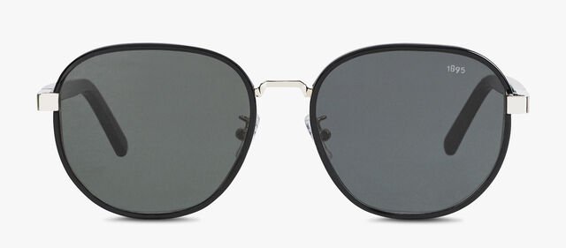 Spectre Round Shape Metal And Acetate Sunglasses, BLACK, hi-res