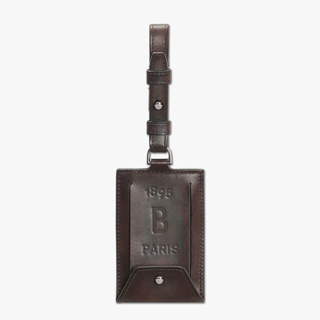 Leather Bag Tag, ICE BROWN, hi-res
