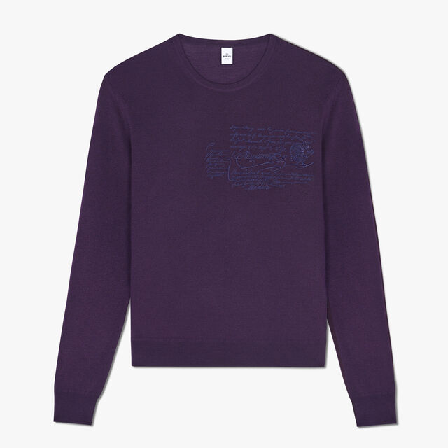 Pull Ras-Du-Cou En Laine, MAGIC PURPLE, hi-res