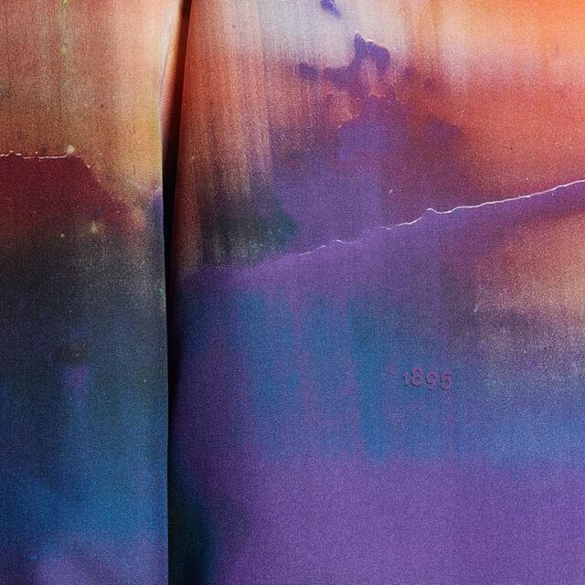 Lev Khesin Silk Shirt, BEIGE ORANGE AND BLUE, hi-res