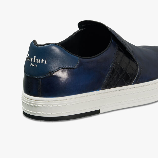 Playtime Palermo Calf & Alligator Leather Sneaker, ROTHKO, hi-res