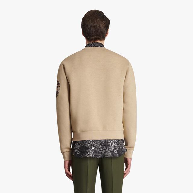 Military Neoprene Sweatshirt, ECRU/ NOIR, hi-res