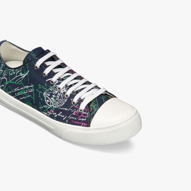 Playground Scritto Canvas Low Cut Sneaker, NAVY MULTICO, hi-res