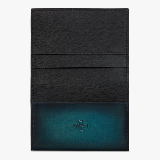 Imbuia Scritto Leather Card Holder, ALPINE GREEN, hi-res