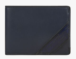 Essentiel Compact Leather Wallet, NAVY BLU, hi-res