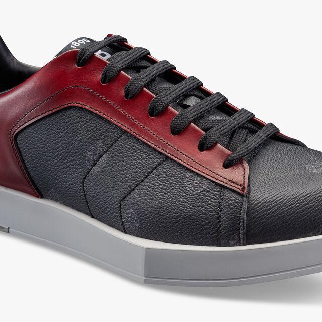 Stellar帆布与皮革运动鞋 , BLACK + SIMAL RED, hi-res