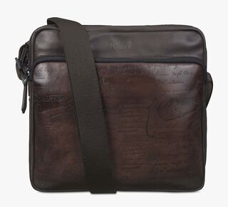 Envol Leather Messenger Bag, TDM & FONDENTE CHIARO, hi-res