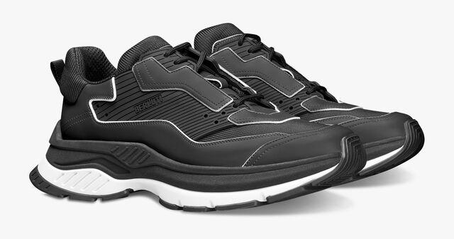 Gravity 皮革运动鞋, BLACK, hi-res