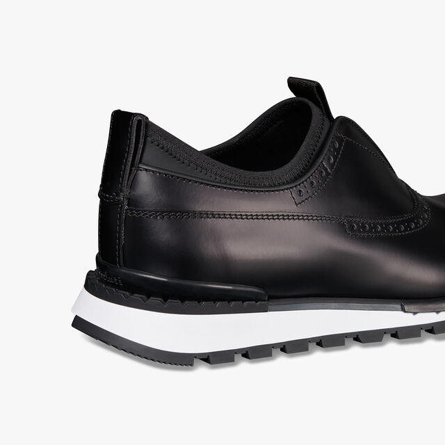 Fast Track Glazed Leather Slip On, NERO, hi-res
