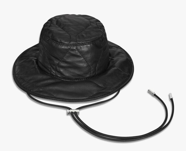 绗缝皮革渔夫帽, NOIR, hi-res