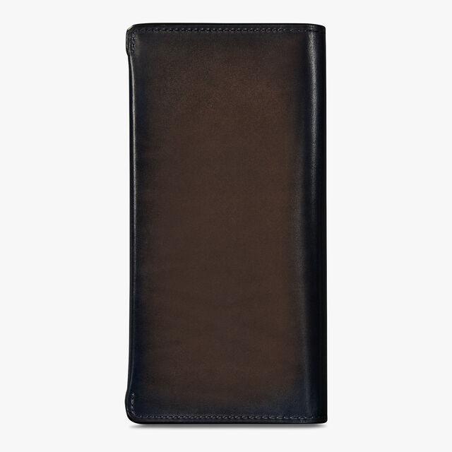 Espace Scritto Leather Long Wallet, BURNT BLUE, hi-res