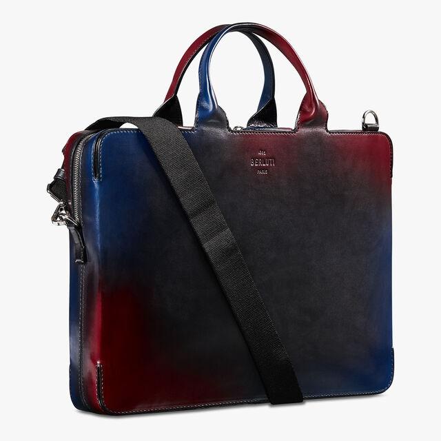 Profil 3 Medium Venezia Calf Leather Briefcase, NEW WAVE, hi-res